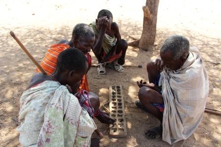 Samburu Village Elders Talking About Village Matters